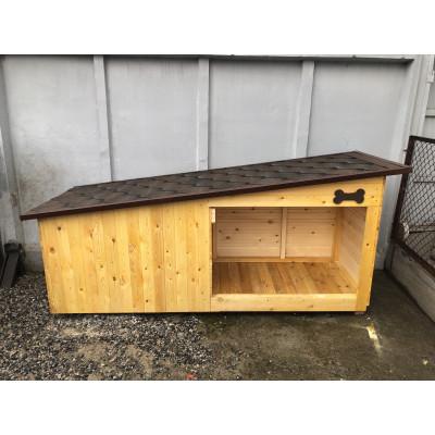 Тёплая будка для собак с лежаком