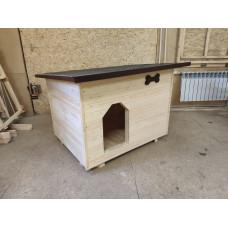 Утеплённая зимняя будка для собак