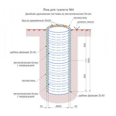 Дренажная система на 2 бочки